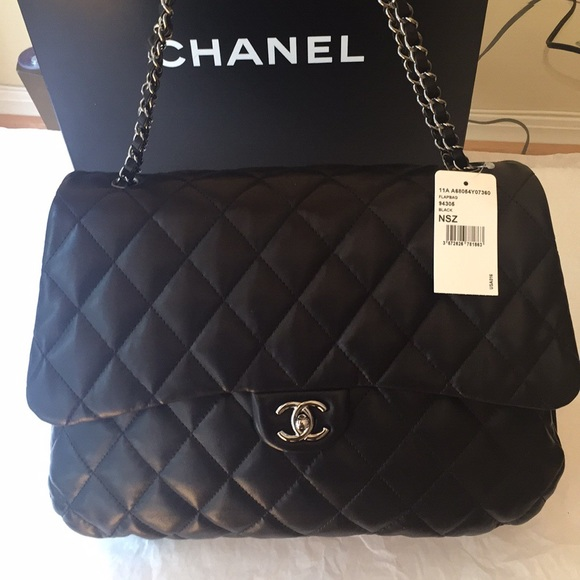 d1f9de06387e CHANEL Bags | New Authentic Maxi Lambskin Quilted Flap | Poshmark